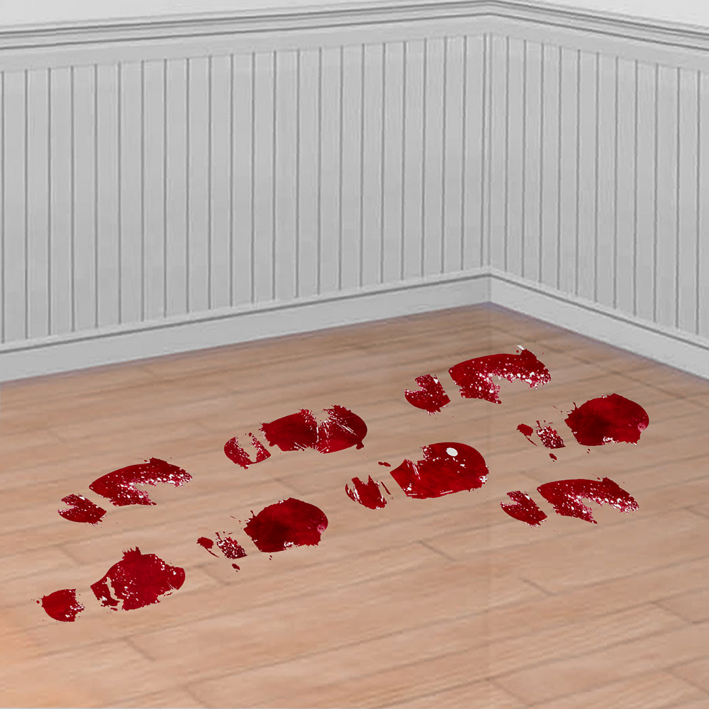 Bloody Footprint Cling Decals 10ct Image #1