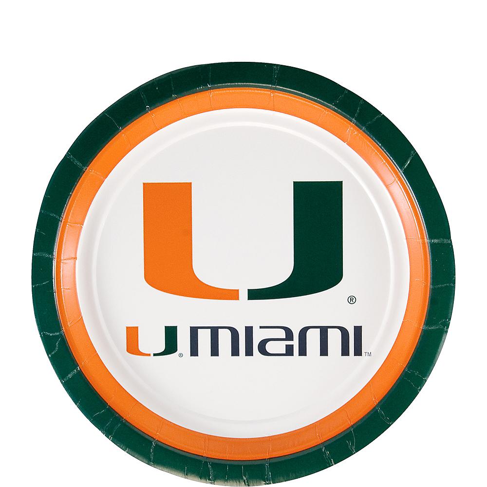 Miami Hurricanes Dessert Plates 12ct Image #1