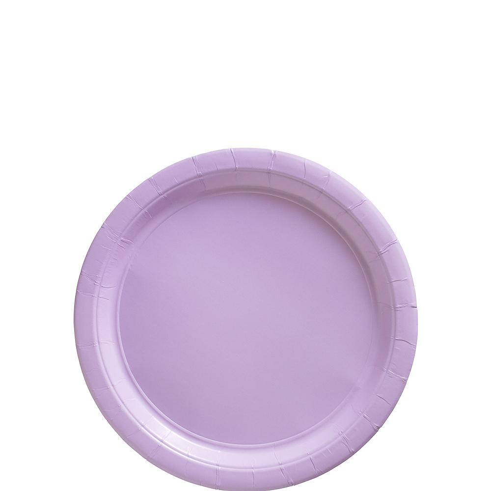 Lavender Paper Dessert Plates 20ct Image #1