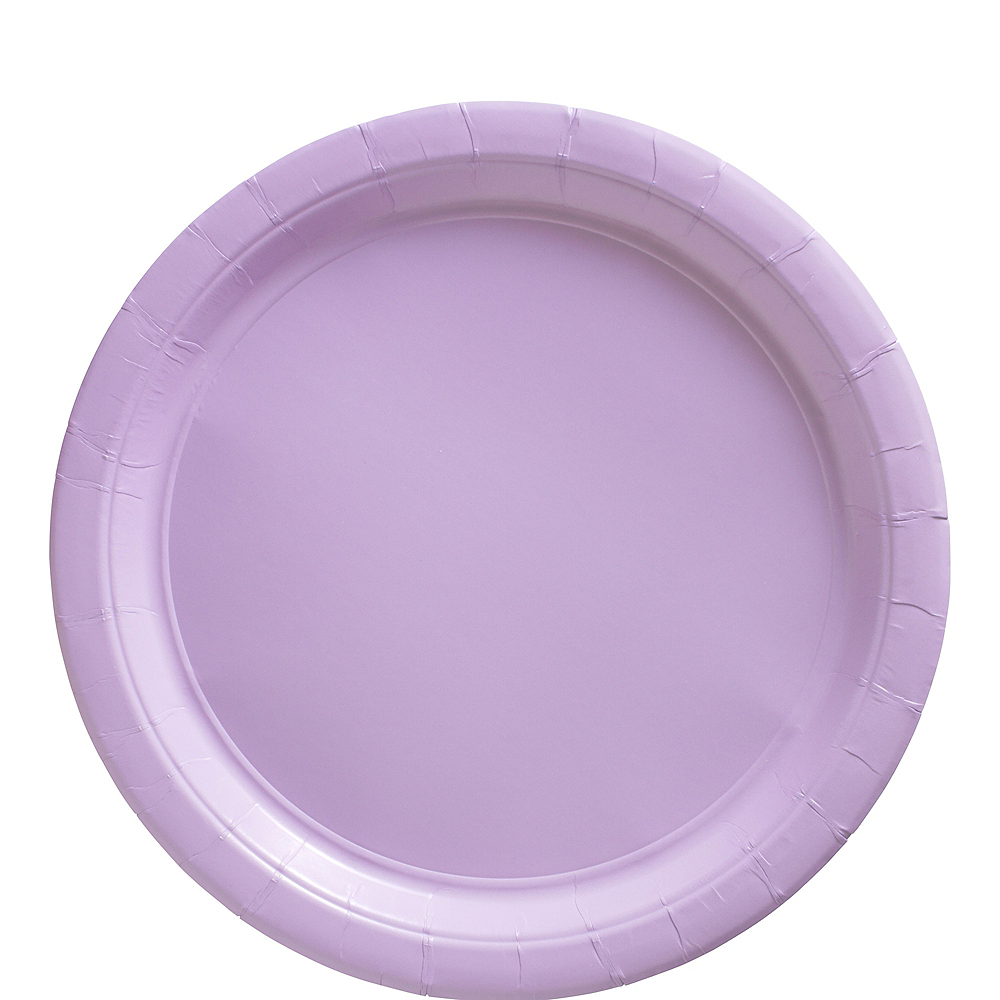 Lavender Paper Lunch Plates 20ct Image #1