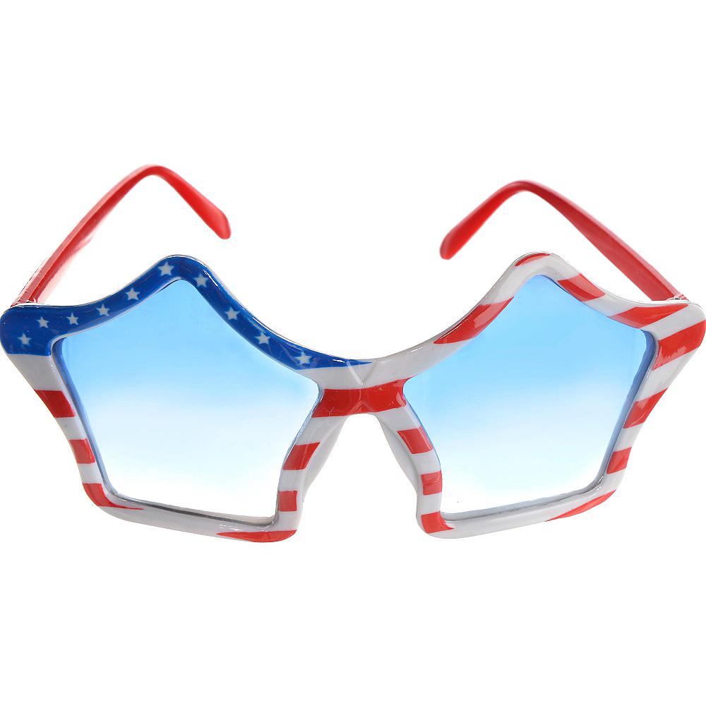 Patriotic American Flag Star Glasses Image #1