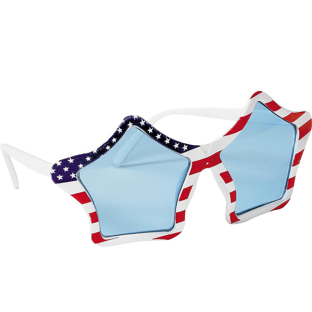 Patriotic American Flag Star Glasses Image #2