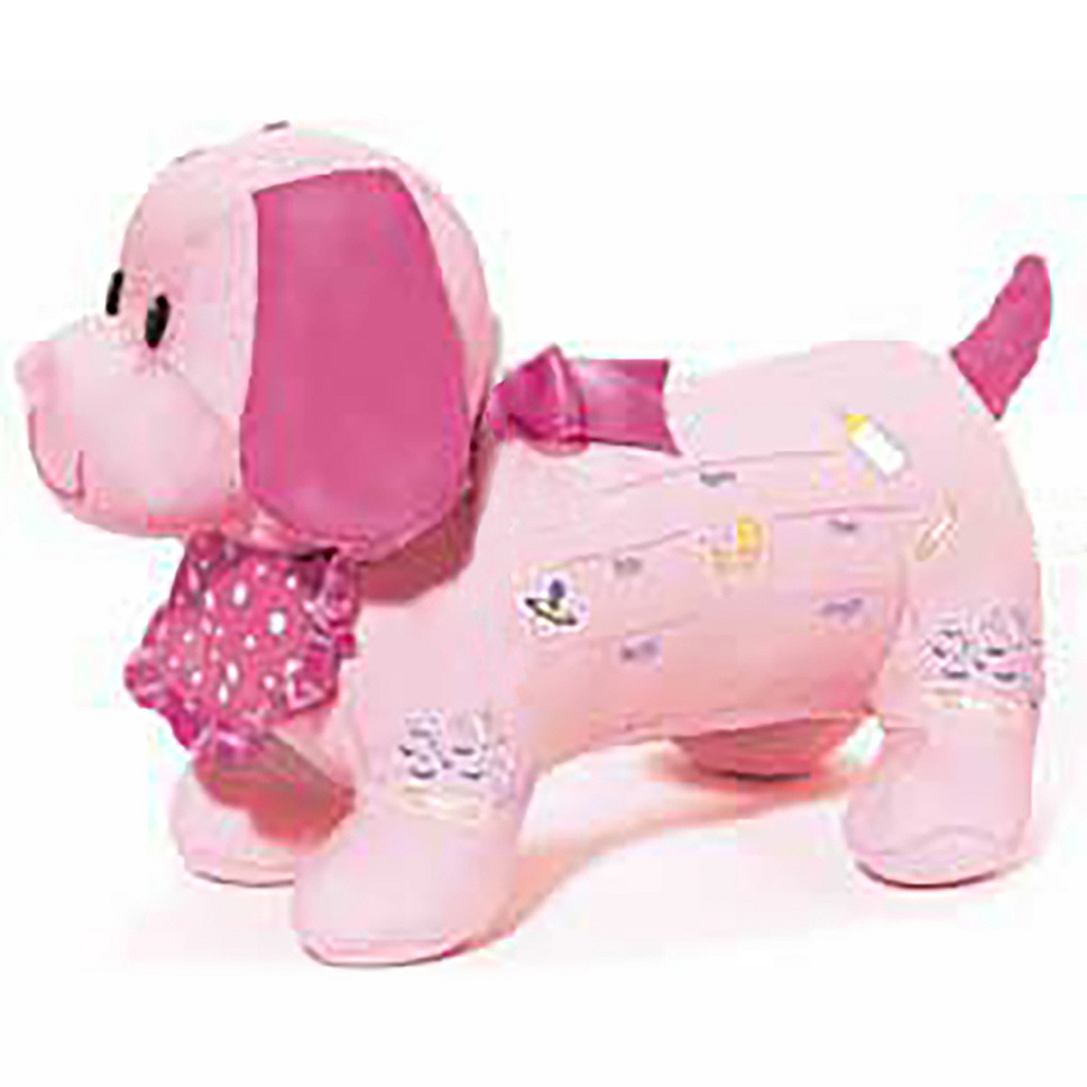 It's a Girl Baby Shower Autograph Plush Dog Image #1