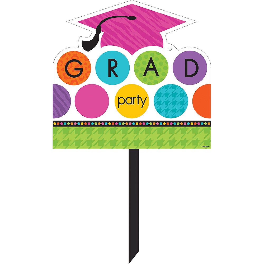 Colorful Commencement Graduation Yard Sign Image #1