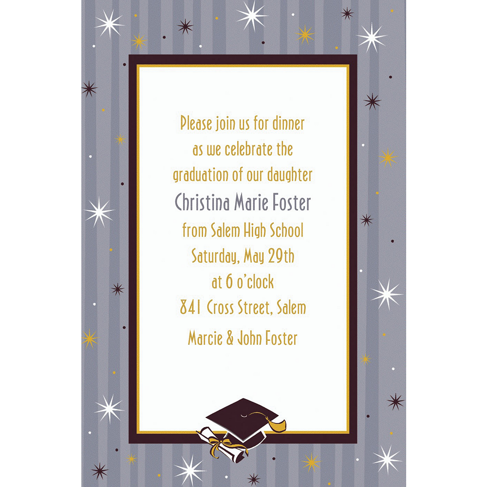 Custom Grad Honors Invitations    Image #1