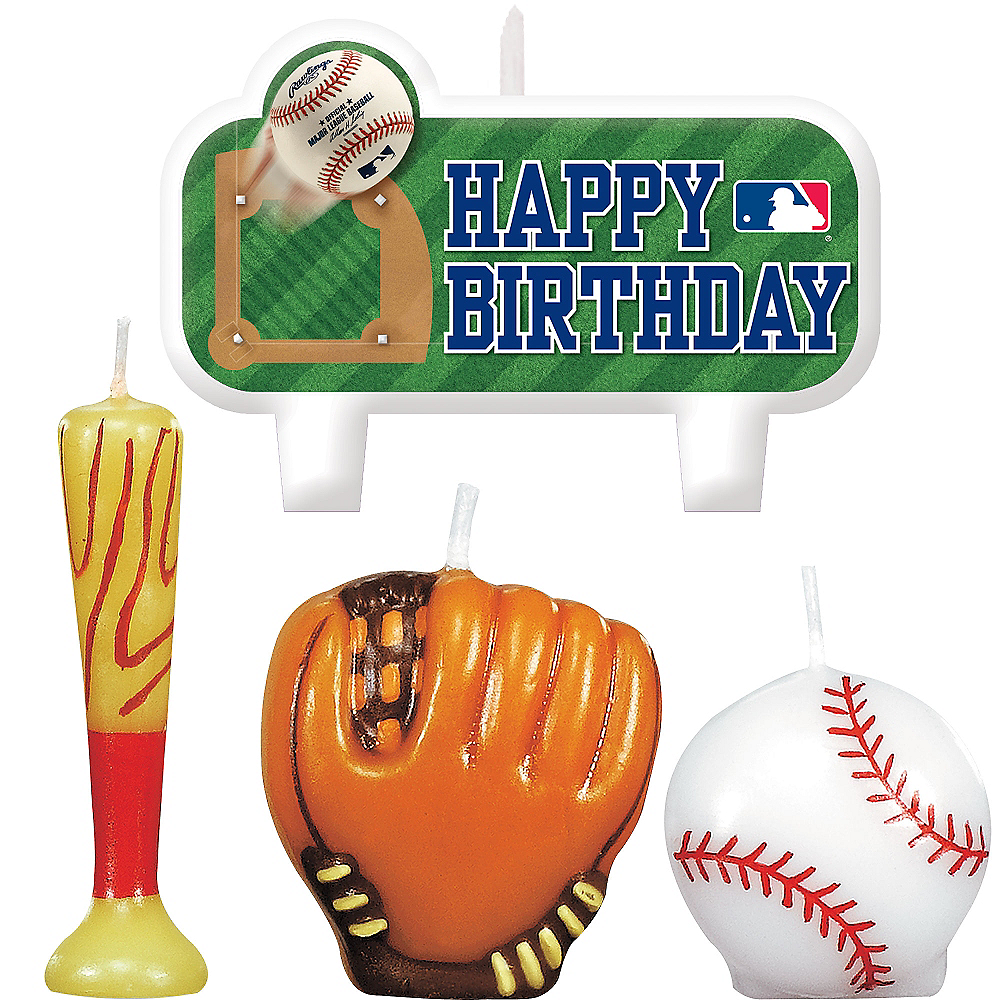 Rawlings Baseball Birthday Candles 4ct Image #1
