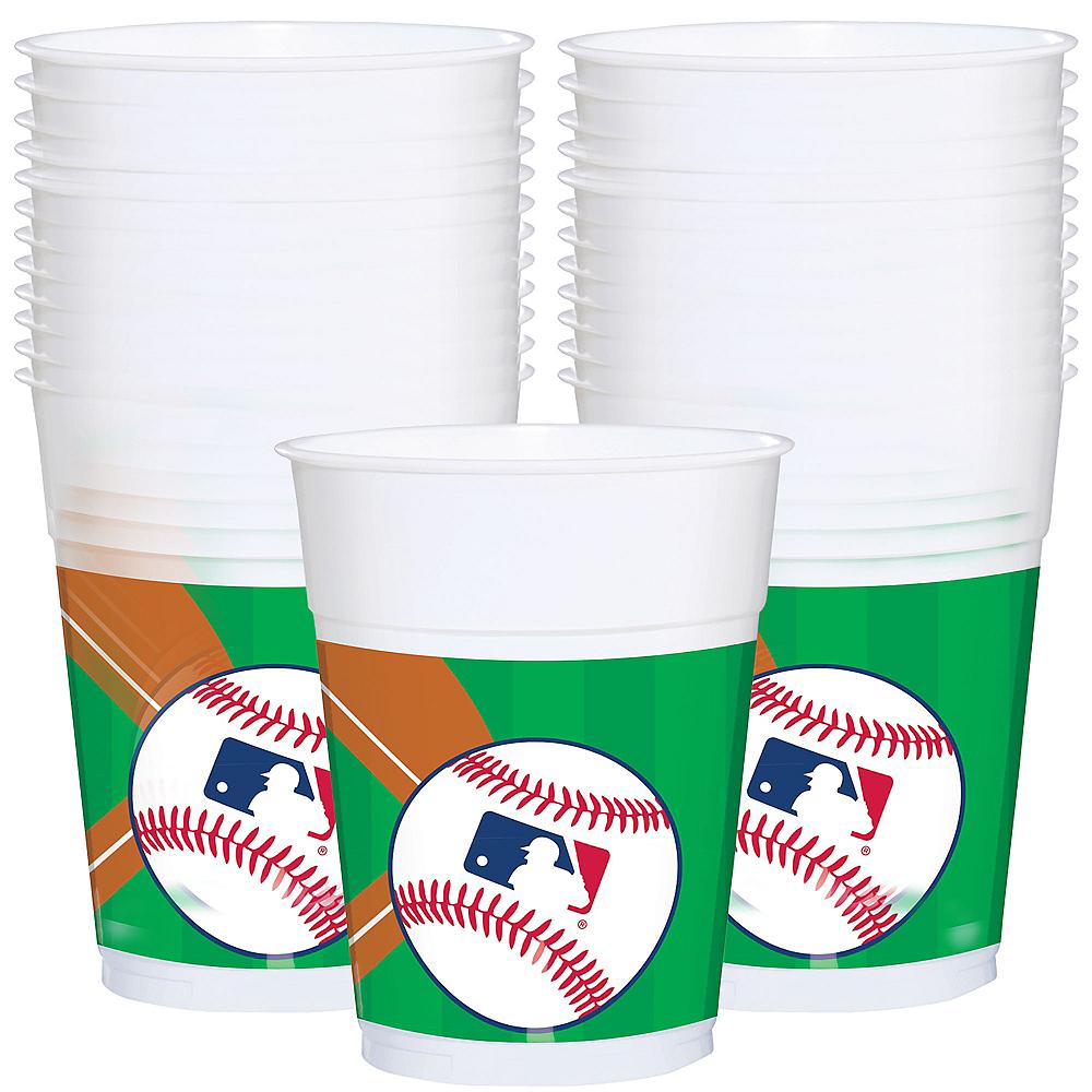 MLB Baseball Plastic Cups, 16oz, 25ct Image #1