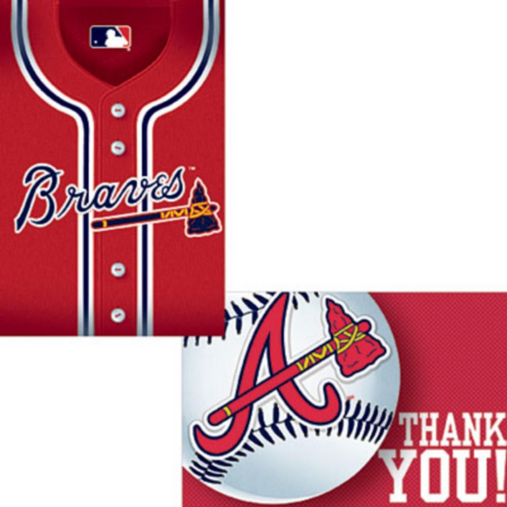Atlanta Braves Invitations & Thank You Notes for 8 Image #1