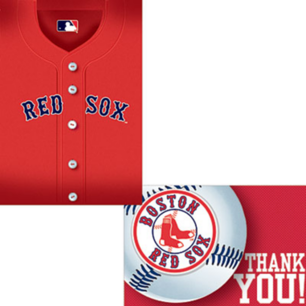 Boston Red Sox Invitations & Thank You Notes for 8 Image #1