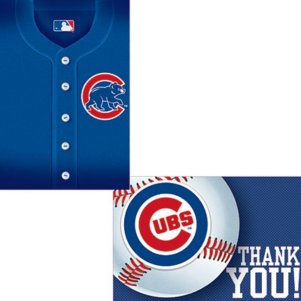 Chicago Cubs Invitations & Thank You Notes for 8 Image #1