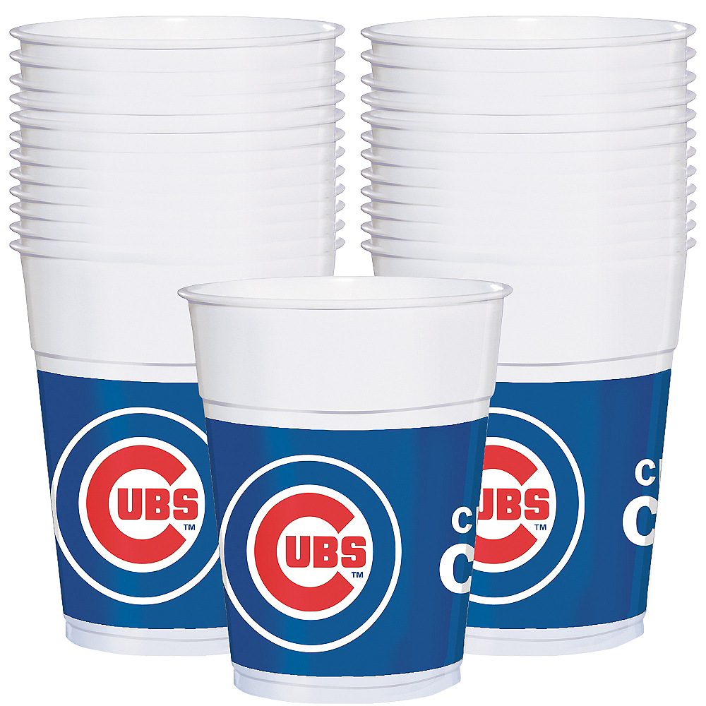 Chicago Cubs Plastic Cups 25ct Image #1
