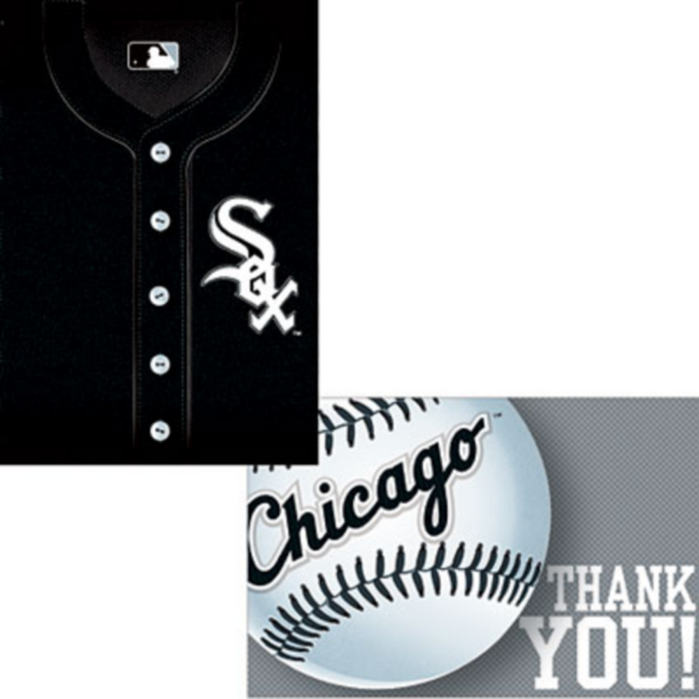 Chicago White Sox Invitations & Thank You Notes for 8 Image #1