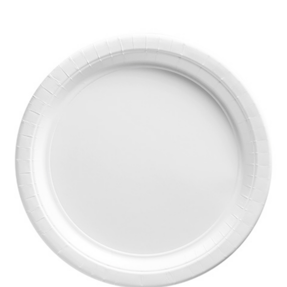 White Paper Lunch Plates 20ct Image #1