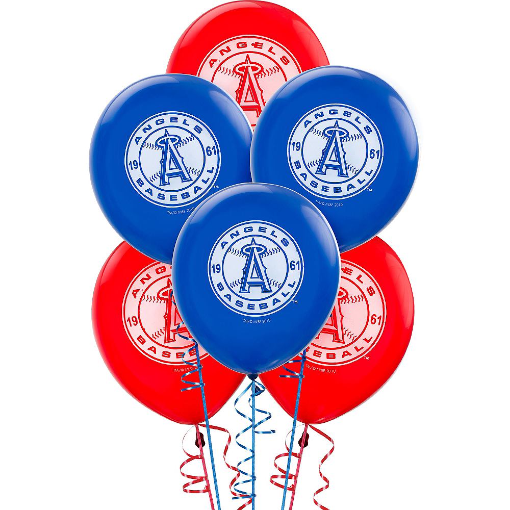 Los Angeles Angels Balloons 6ct Image #1