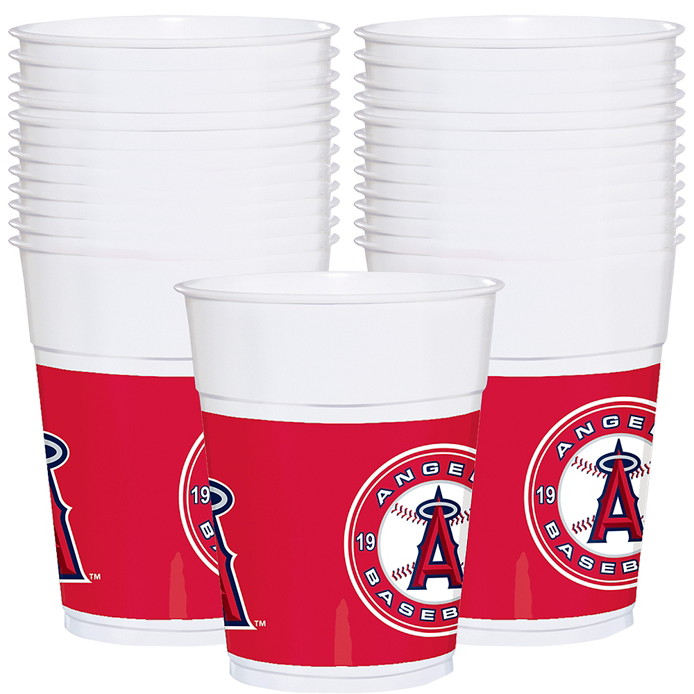 Los Angeles Angels Plastic Cups 25ct Image #1