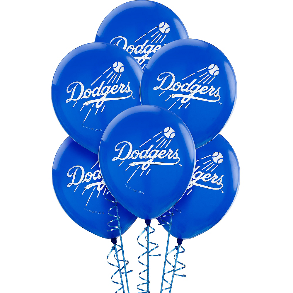 Los Angeles Dodgers Balloons 6ct Image #1