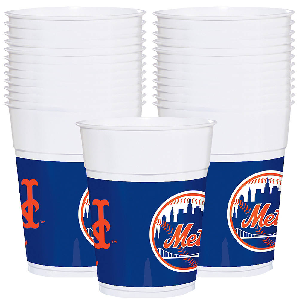 New York Mets Plastic Cups 25ct Image #1