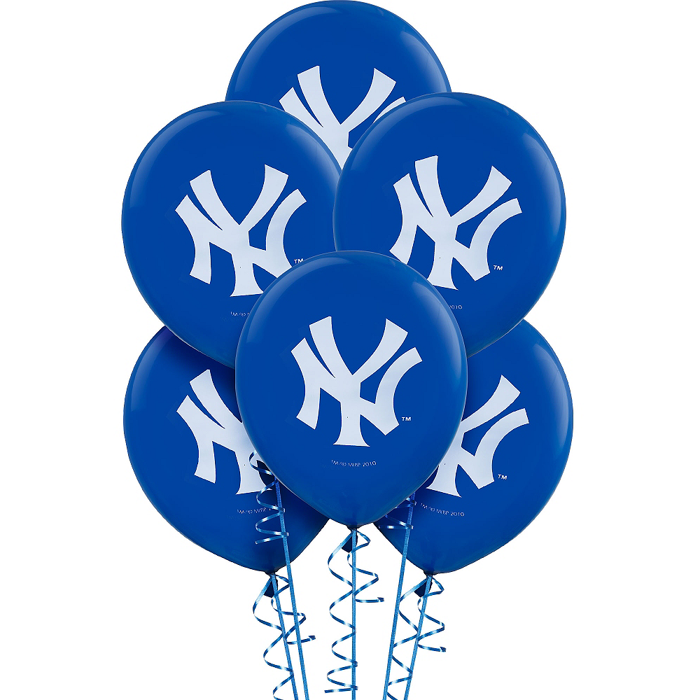 New York Yankees Balloons 6ct Image #1