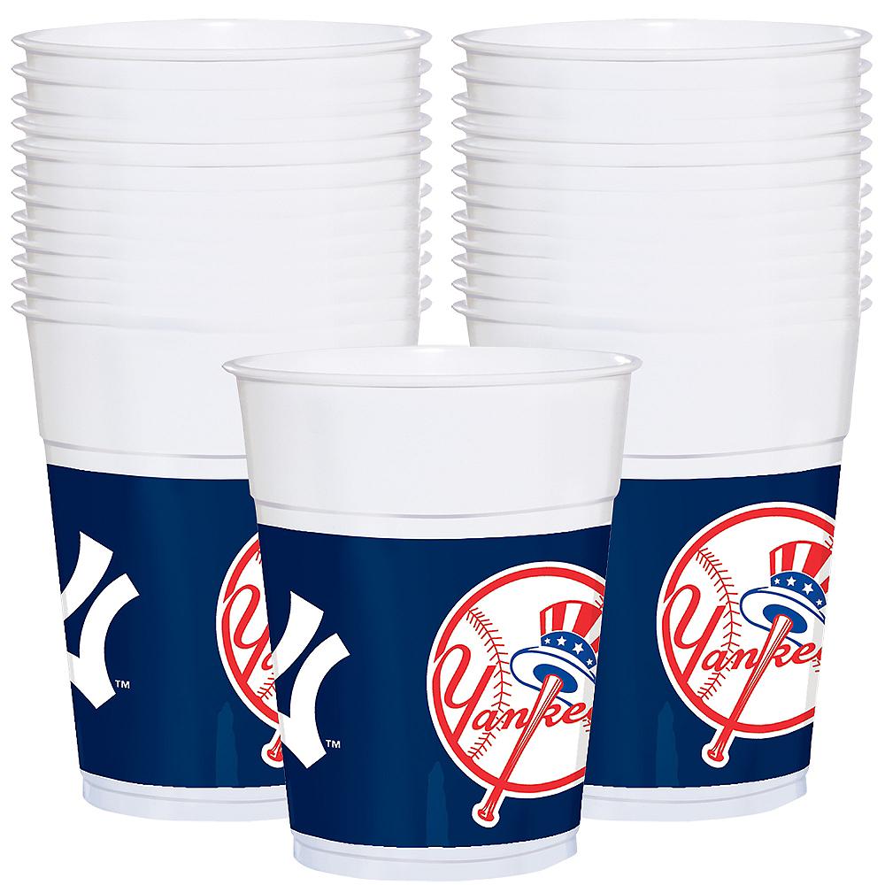 New York Yankees Plastic Cups 25ct Image #1