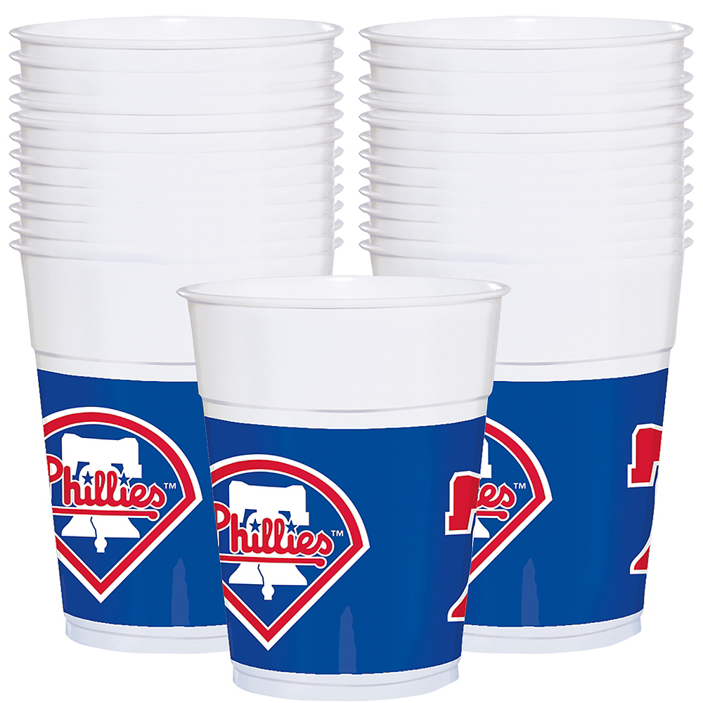 Philadelphia Phillies Plastic Cups 25ct Image #1