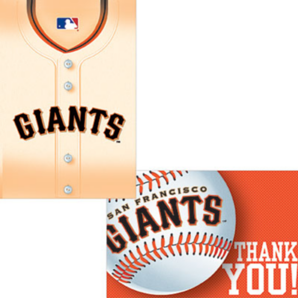 San Francisco Giants Invitations & Thank You Notes for 8 Image #1