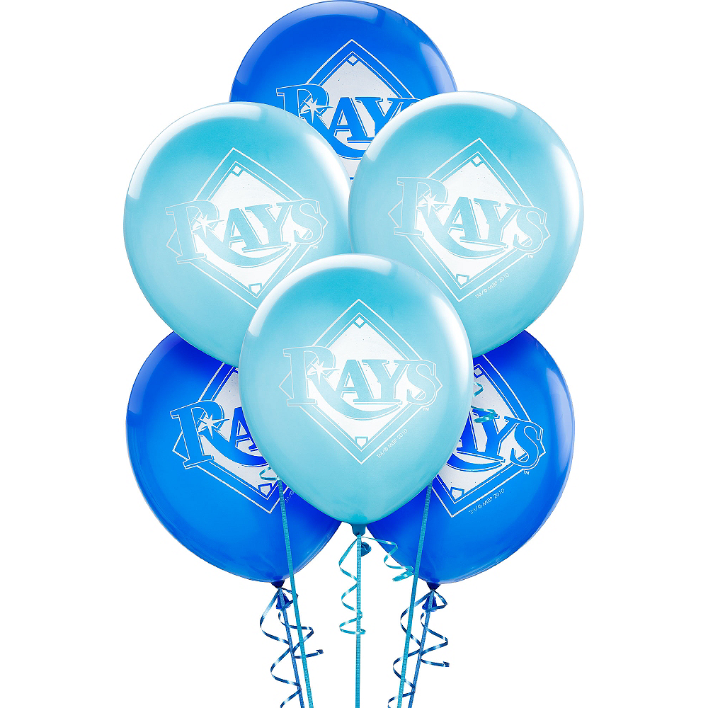 Tampa Bay Rays Balloons 6ct Image #1