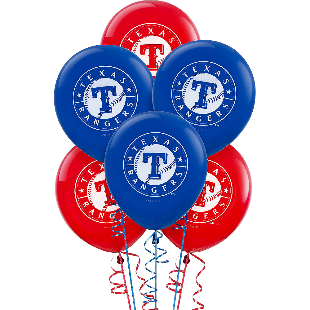 Nav Item for Texas Rangers Balloons 6ct Image #1