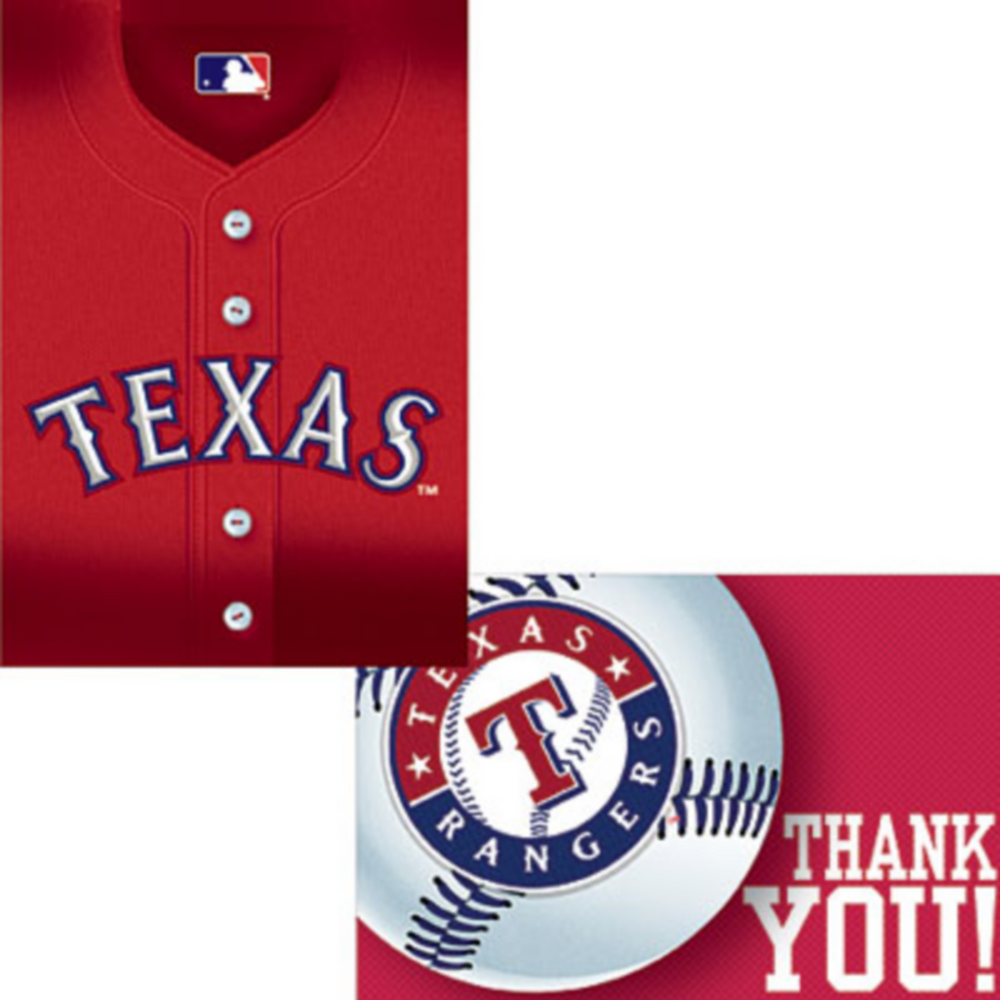 Texas Rangers Invitations & Thank You Notes for 8 Image #1
