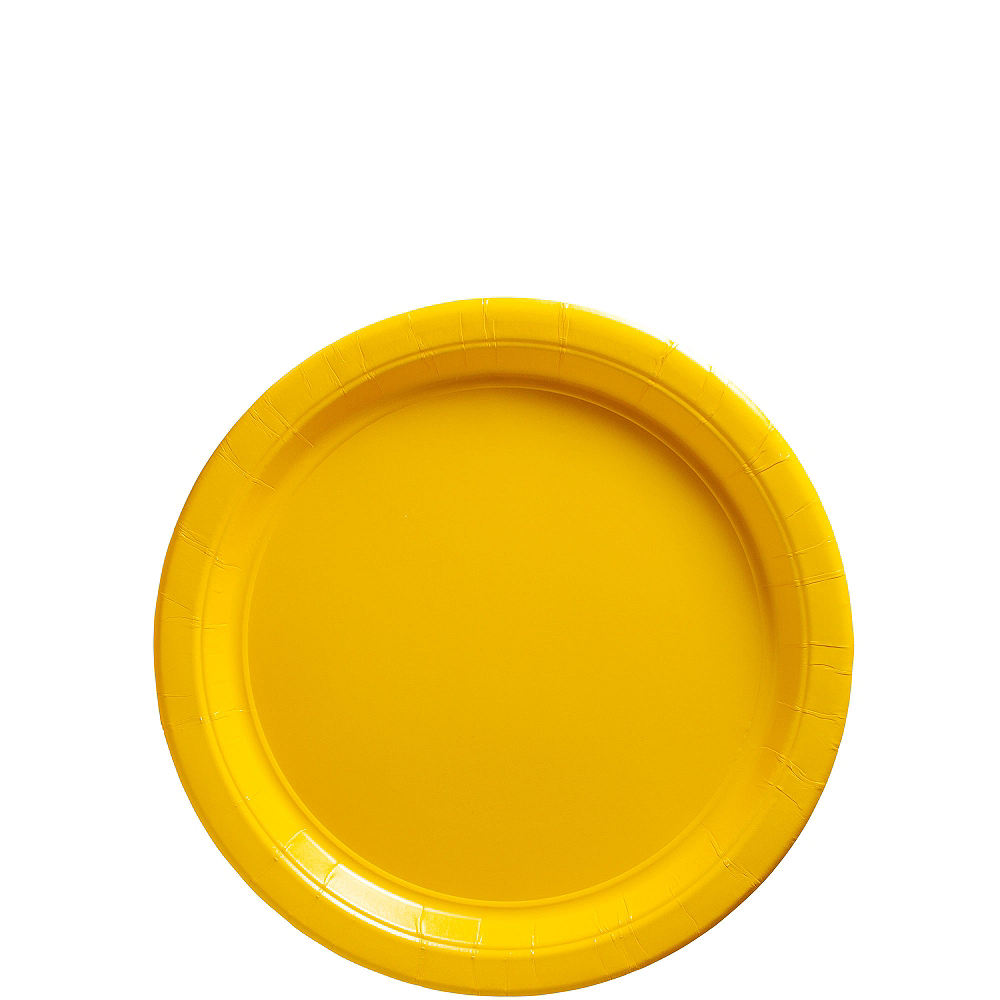 Sunshine Yellow Paper Dessert Plates 20ct Image #1
