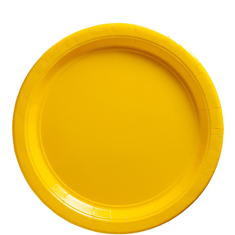 Sunshine Yellow Paper Lunch Plates 20ct | Party City