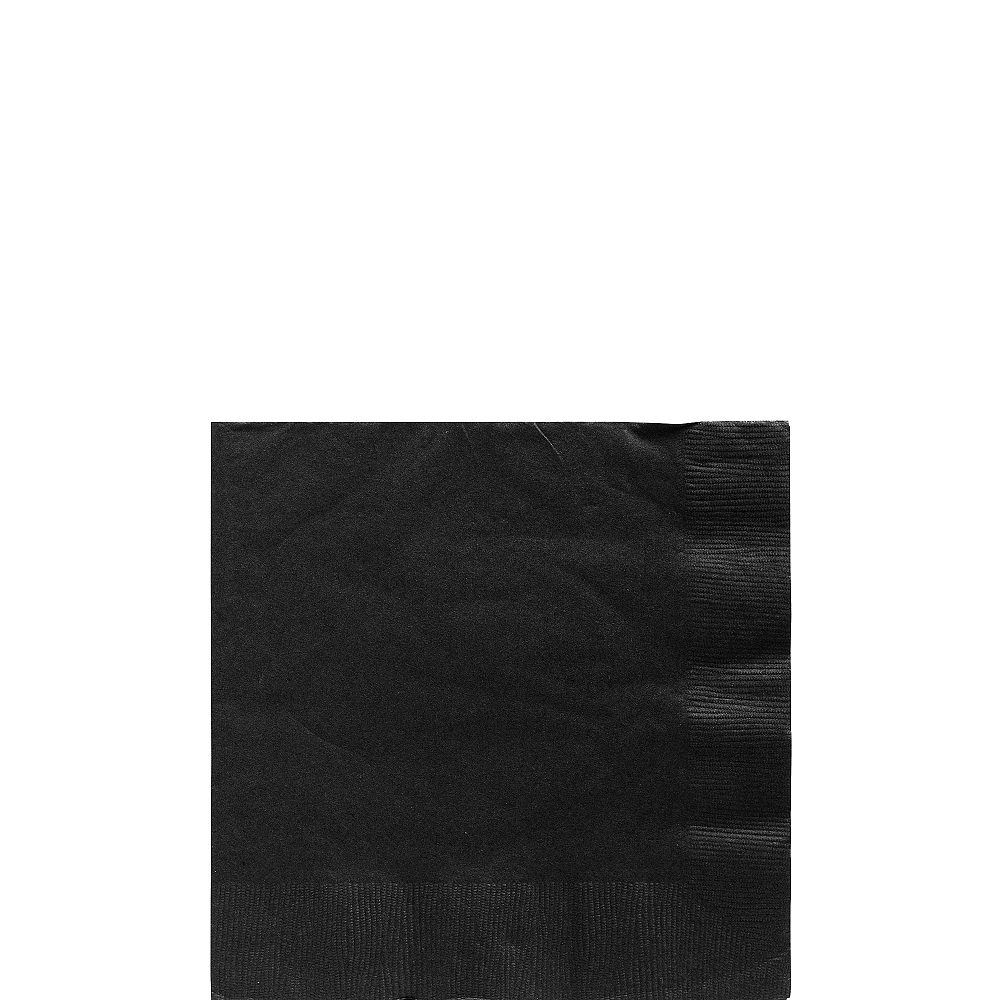 Black Beverage Napkins 50ct Image #1