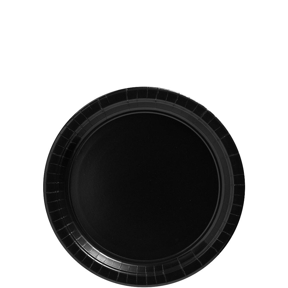 Black Paper Dessert Plates 20ct Image #1