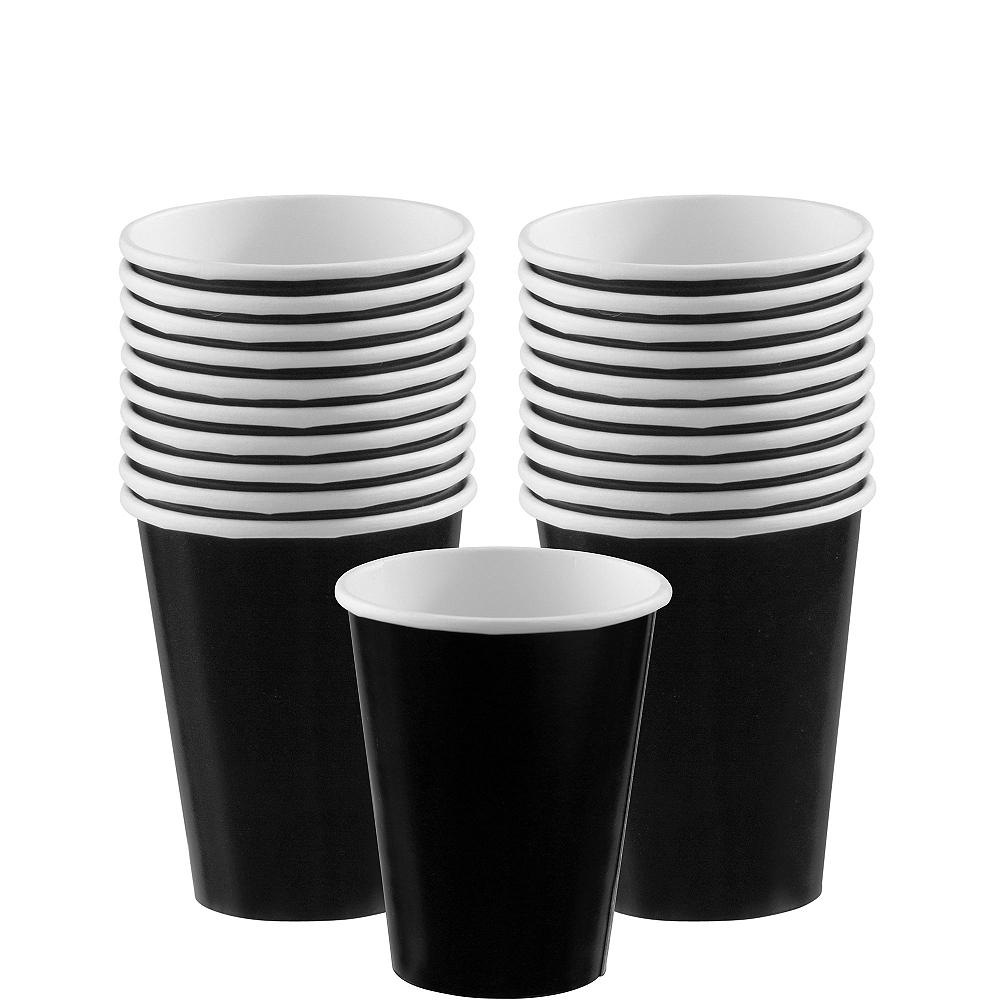 Black Paper Cups 20ct Image #1