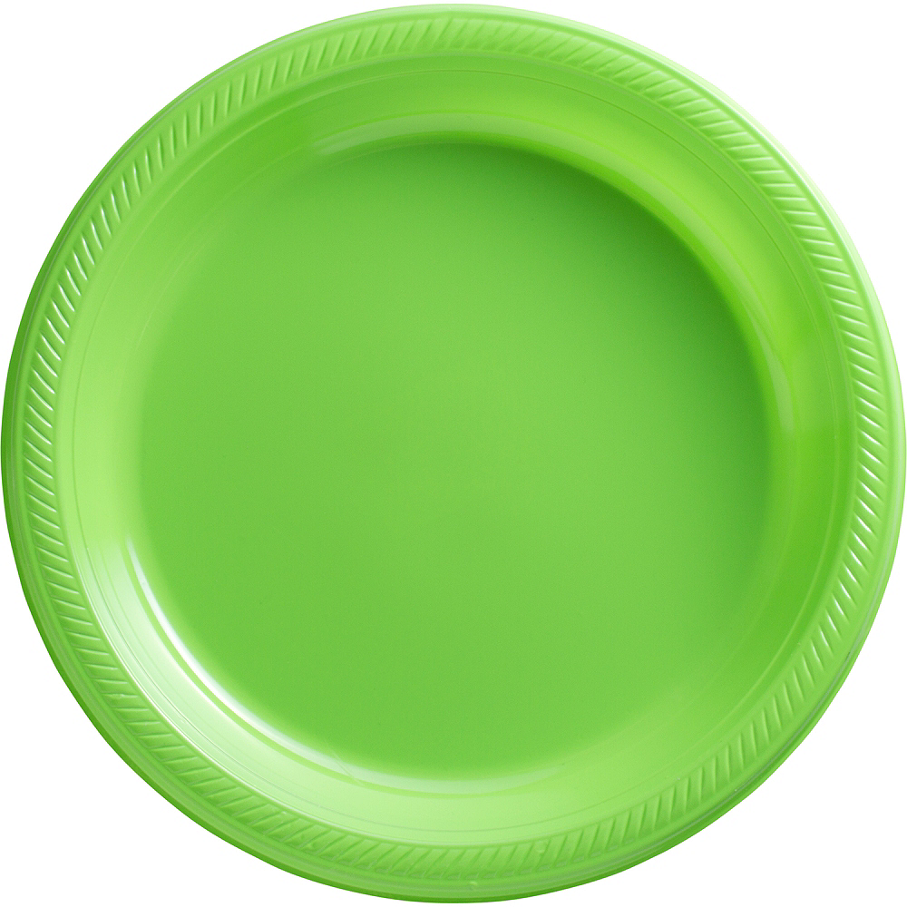 Kiwi Green Plastic Dinner Plates, 10.25in, 50ct Image #1