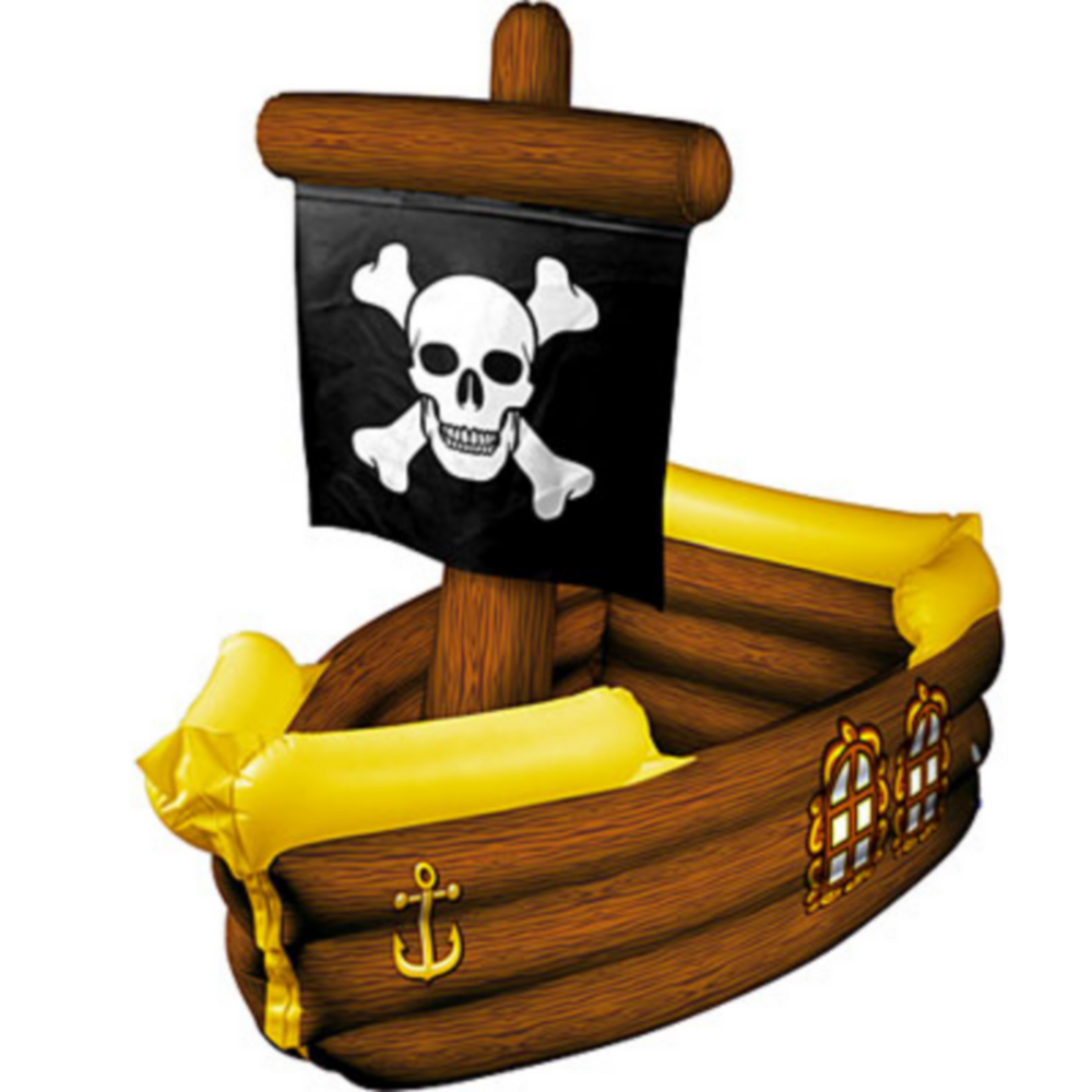 Inflatable Pirate Ship Cooler 41in Image #1