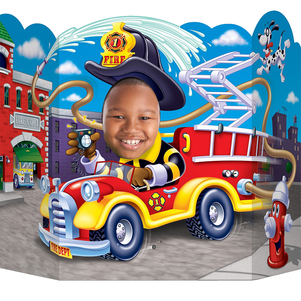 Fire Truck Photo Prop 25in x 37in Image #1