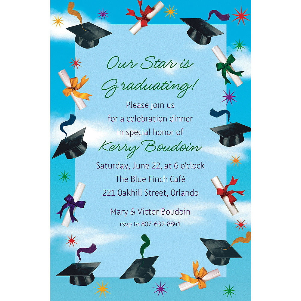 Custom Grad Spirit Invitations    Image #1