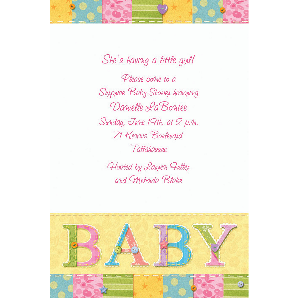 Custom Cute As A Button Baby Shower Invitations | Party City