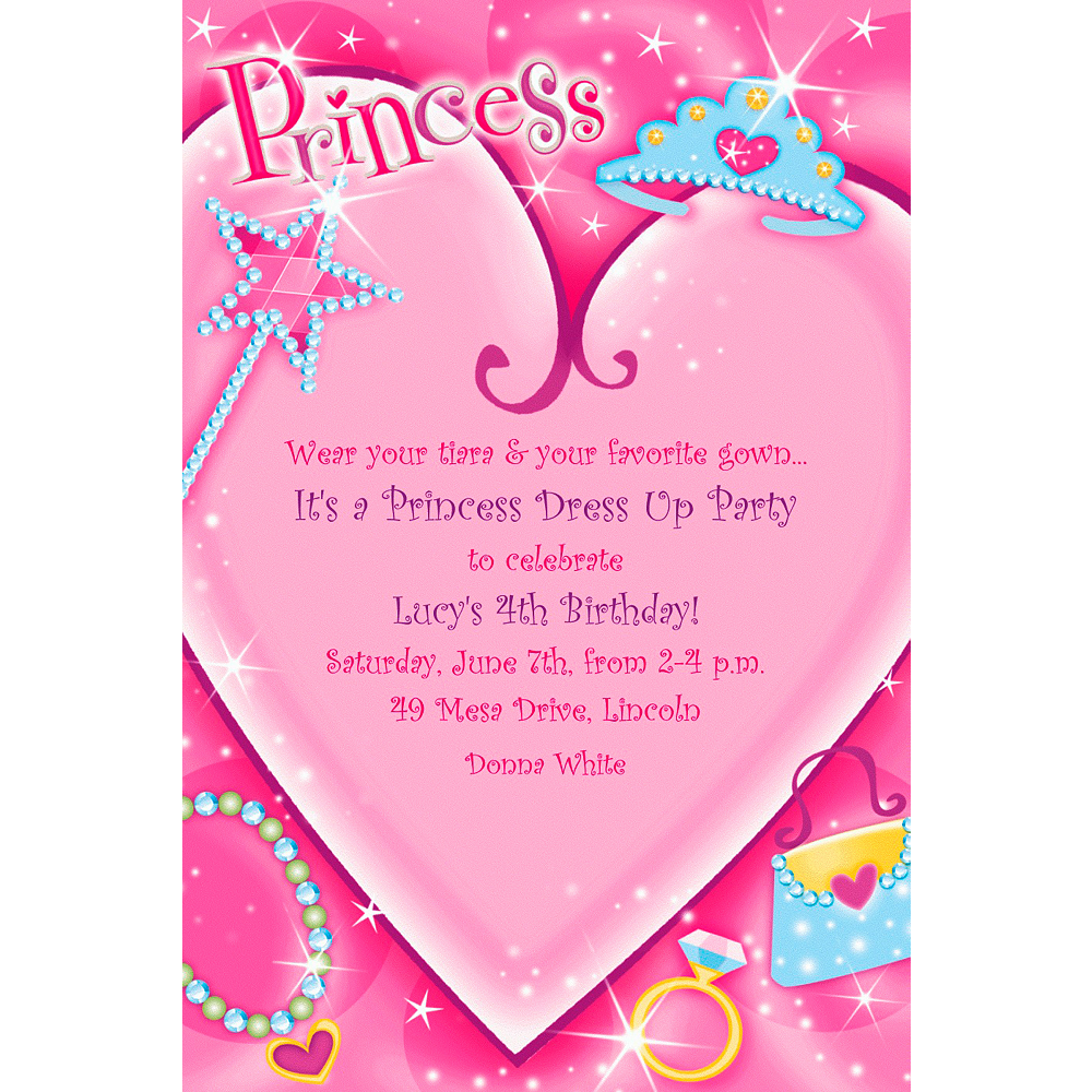 Custom Princess Invitations Image #1