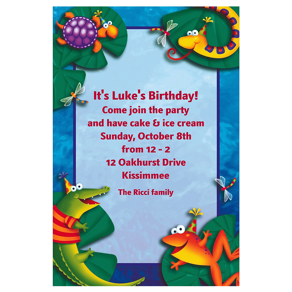 Custom Leap Frog Friends Invitations  Image #1