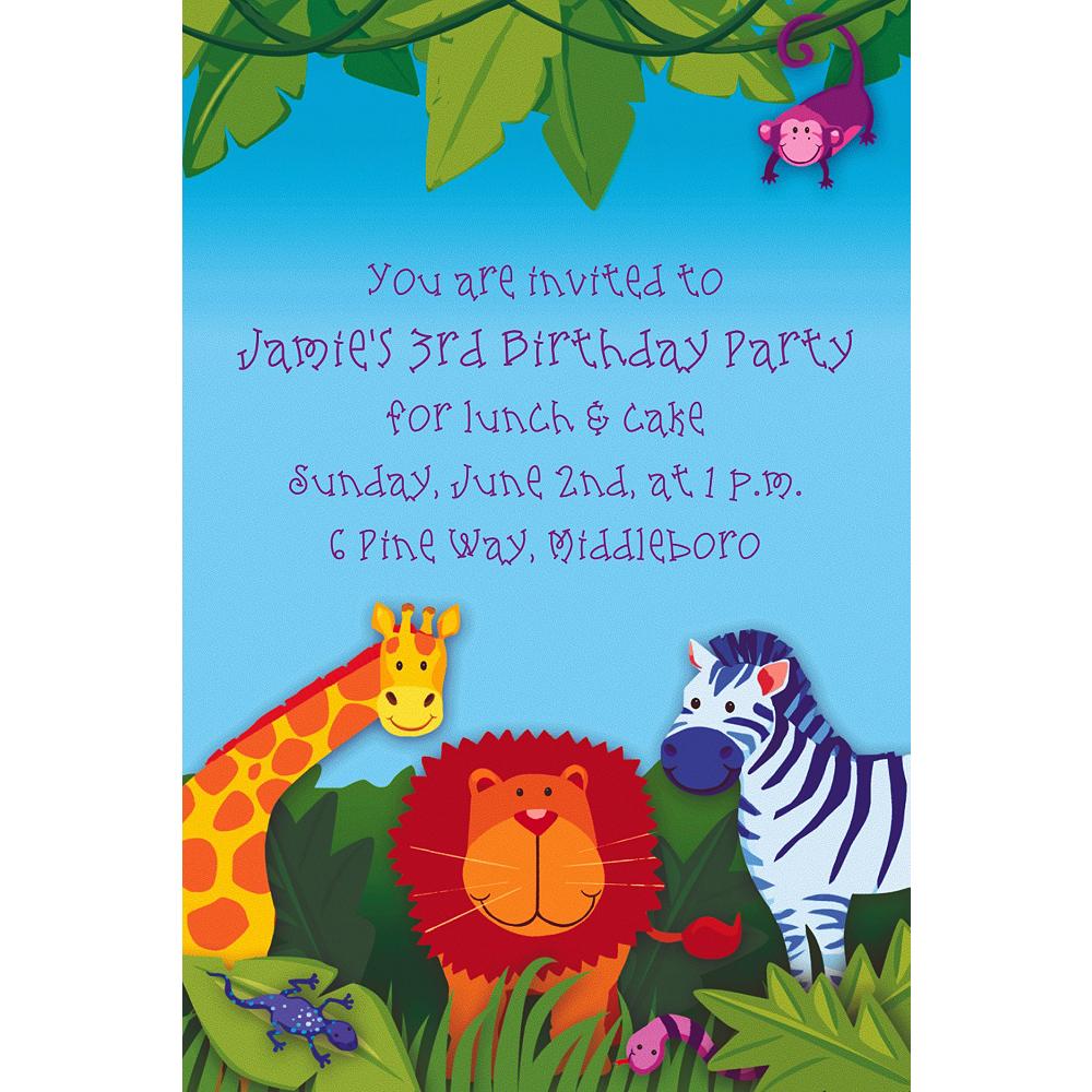 Custom Jungle Animals Invitations Image #1