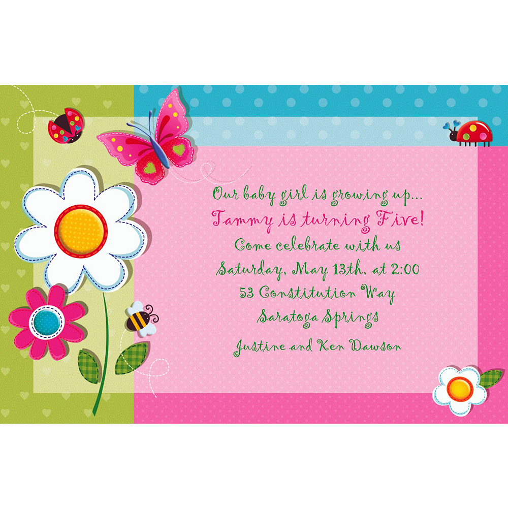 Custom Garden Girl Invitations Image #1