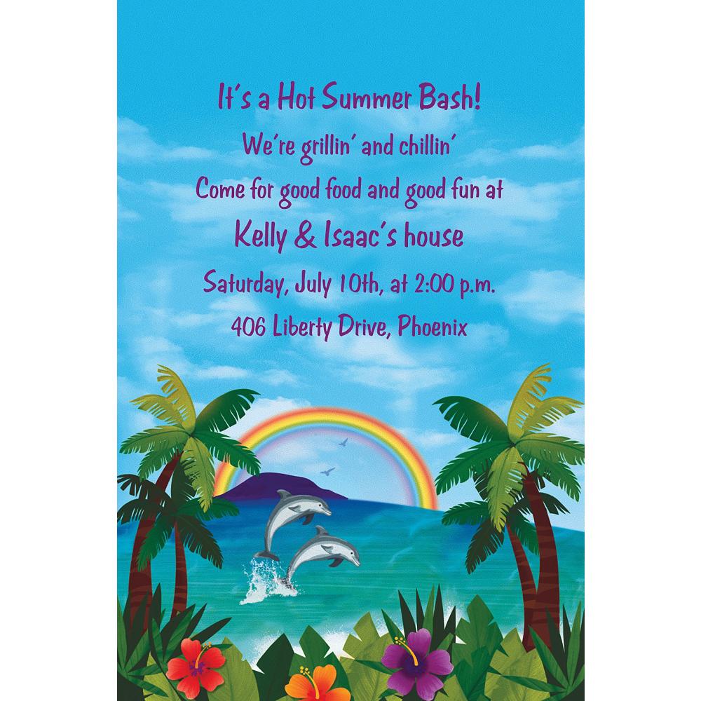 Custom Ocean View Luau Invitations Image #1