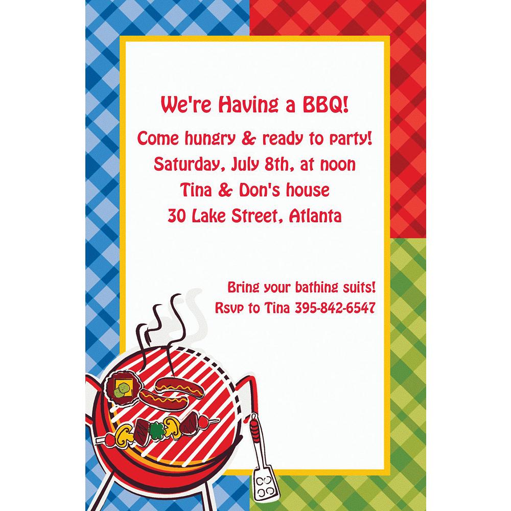 Custom Backyard BBQ Invitations Image #1