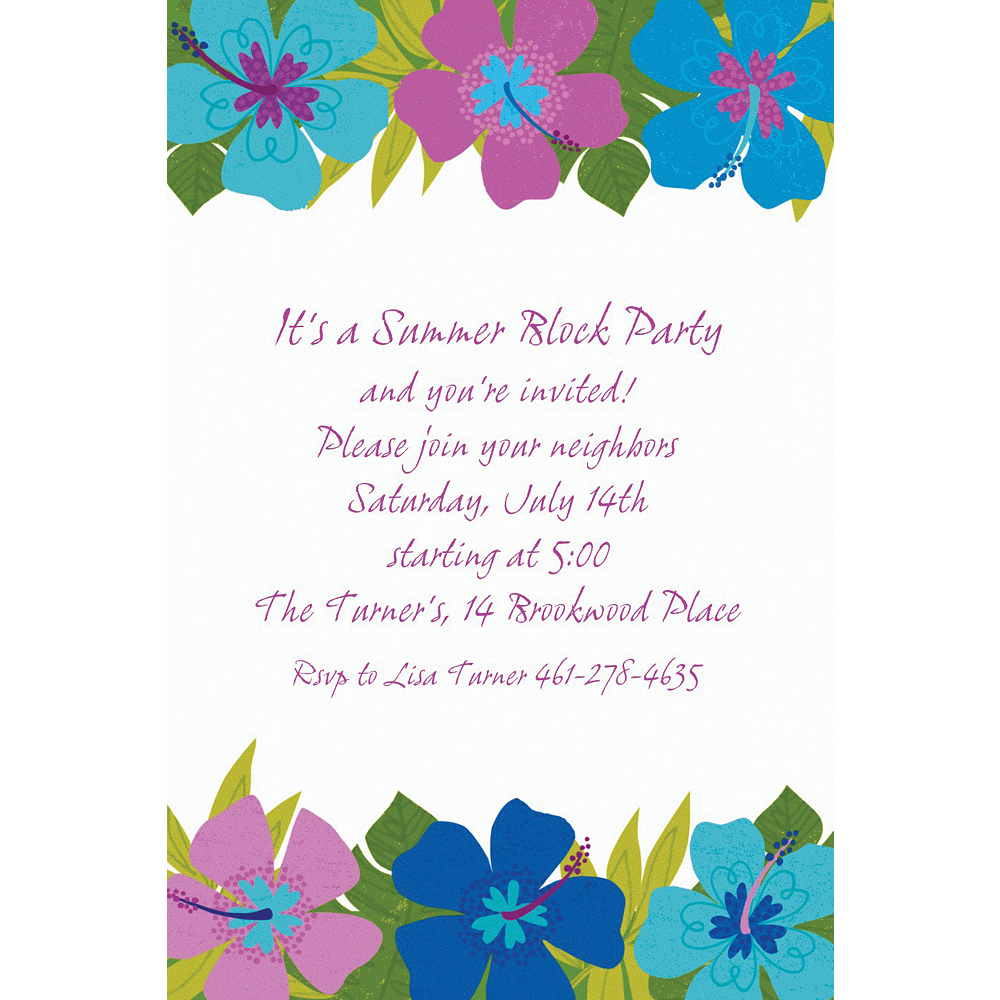 Nav Item for Custom Floral Paradise Cool Invitations Image #1
