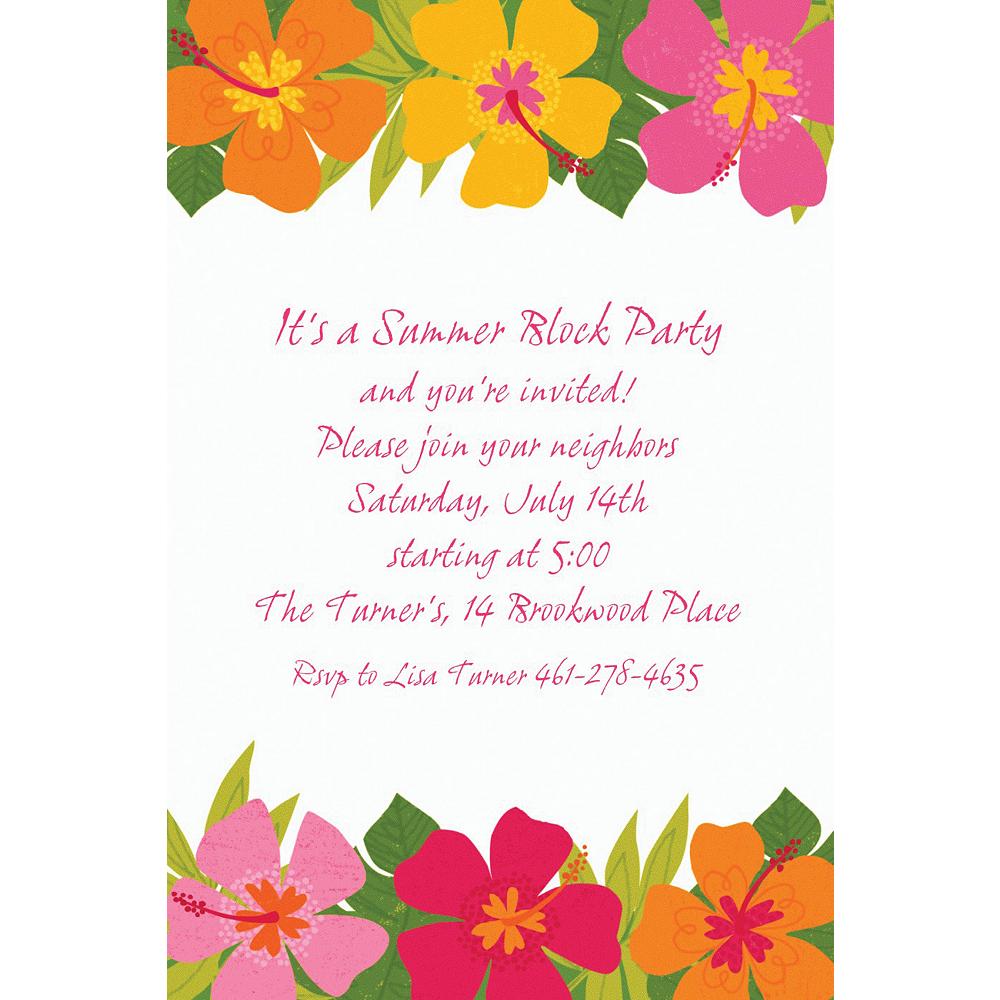 Custom Floral Paradise Warm Invitations Image #1