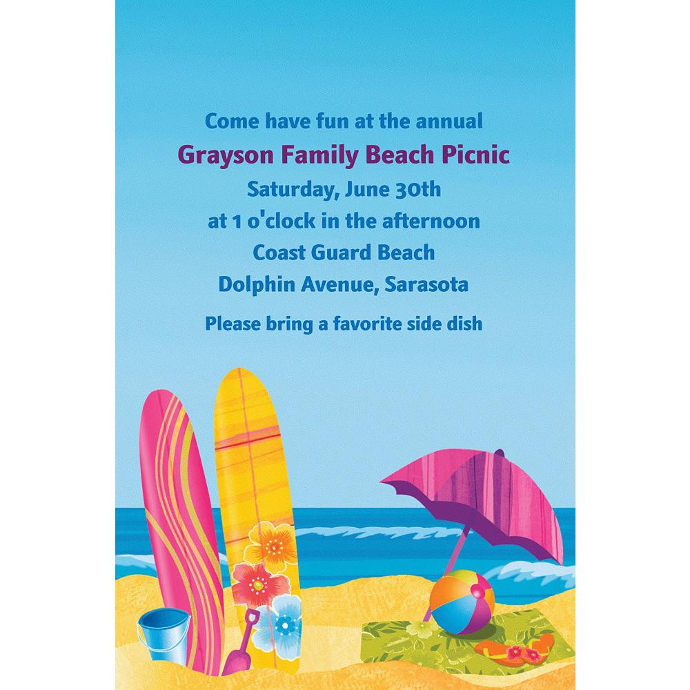 Custom Surf's Up Invitations Image #1
