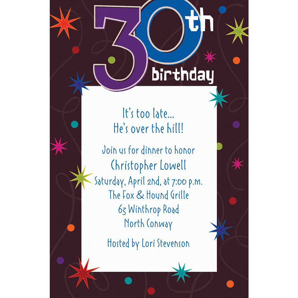Custom The Party Continues 30th Birthday Invitations | Party City
