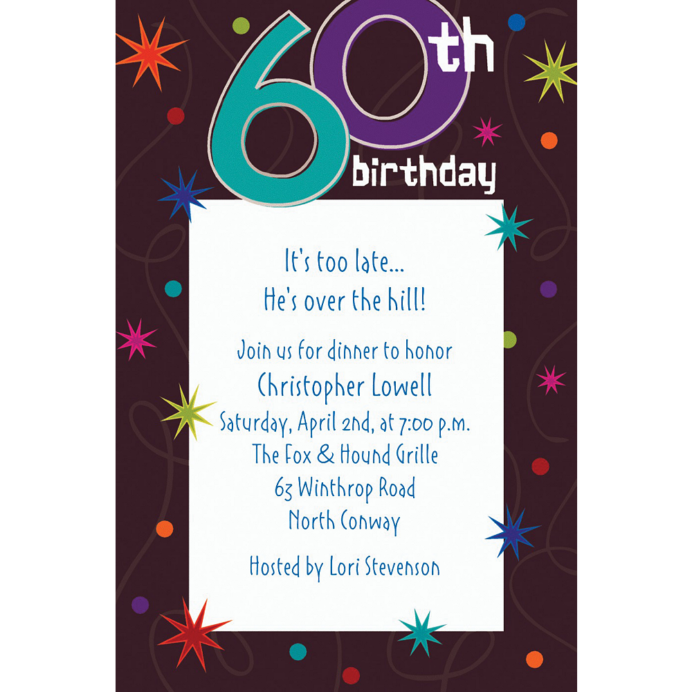 Custom The Party Continues 60th Birthday Invitations | Party City