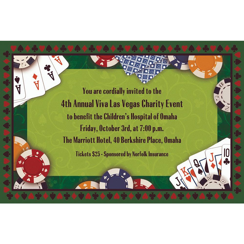 Custom Poker Party Invitations Image #1